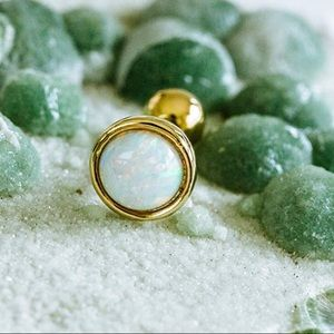 Jewelry - 14K gold plated lab created opal barbell 💜